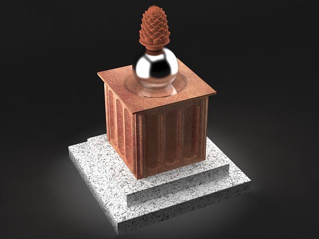 pine cone statue 3d model max 142024