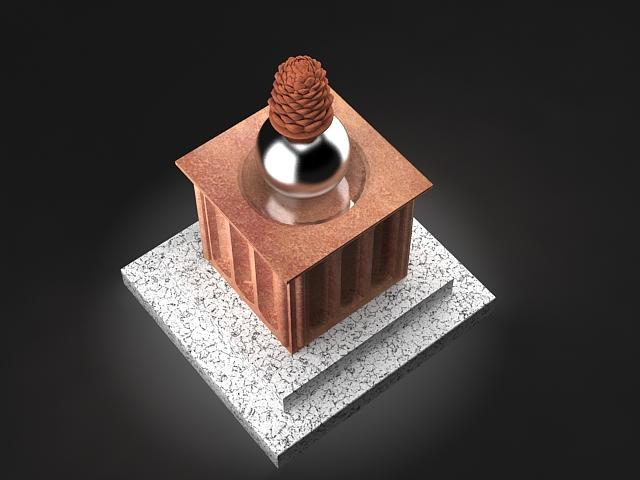pine cone statue 3d model max 142025