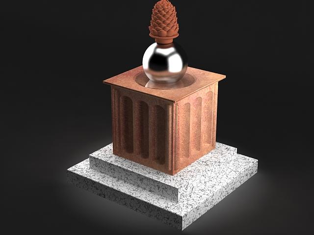 pine cone statue 3d model max 142026