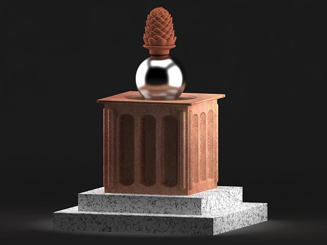 pine cone statue 3d model max 142027