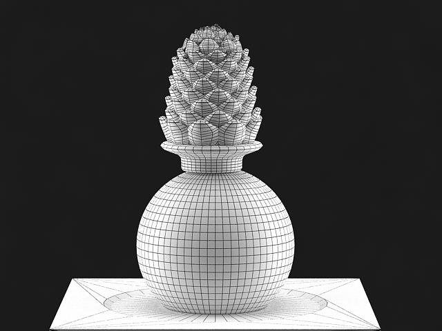 pine cone statue 3d model max 142029