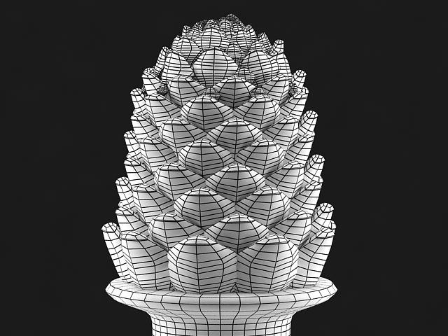 pine cone statue 3d model max 142030