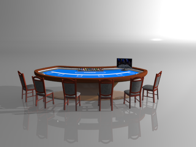 poker table 3d model max 122290