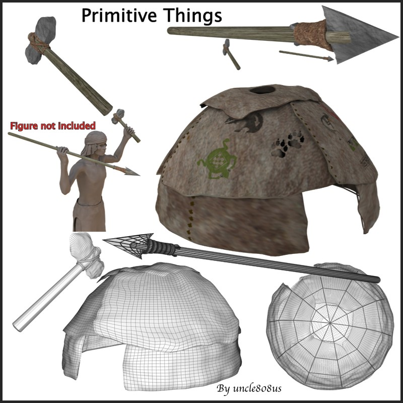 primitive things 3d model obj 156969