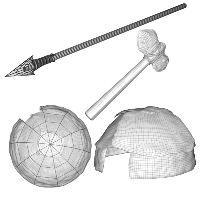 primitív dolgok 3d modell objekt 156971