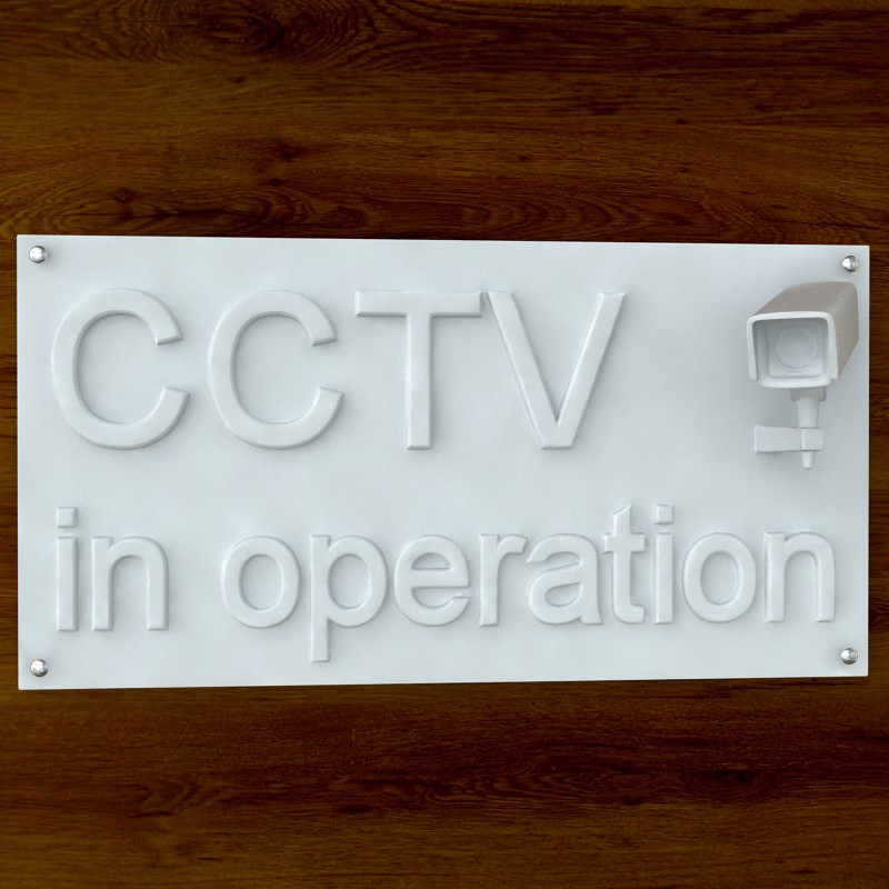printable cctv sign stl obj 3d model  obj 124742