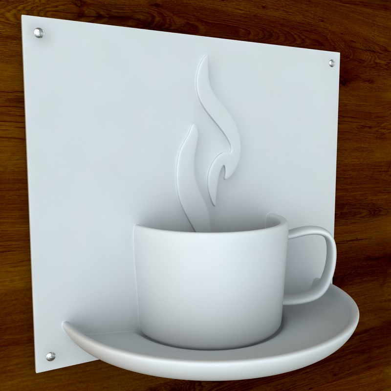 printable coffee sign stl obj 3d model  obj 125263