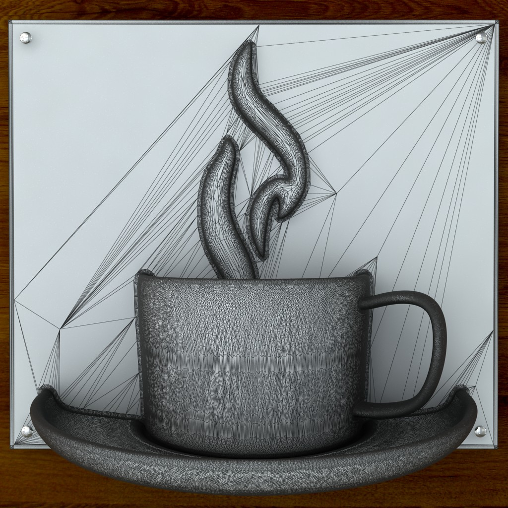printable coffee sign stl obj 3d model  obj 125266