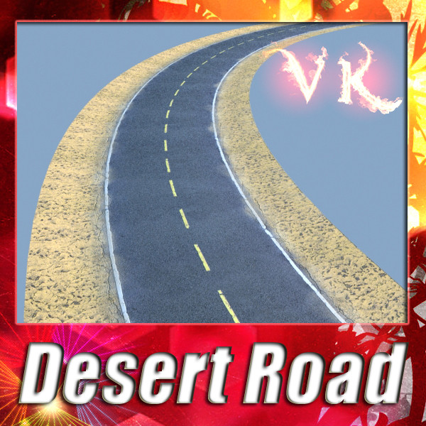 realistic desert road high resolution 3d model 3ds max fbx obj 130074