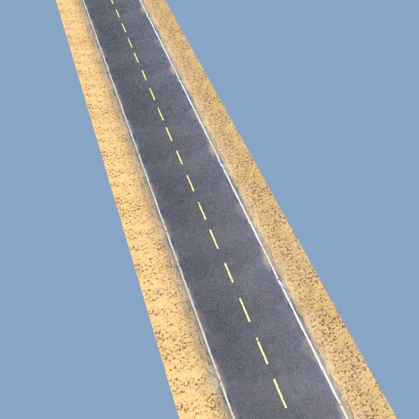 realistic desert road high resolution 3d model 3ds max fbx obj 130076