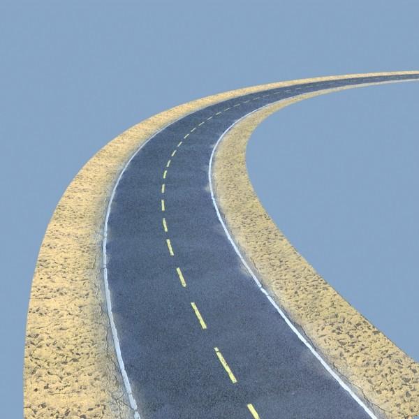realistic desert road high resolution 3d model 3ds max fbx obj 130078