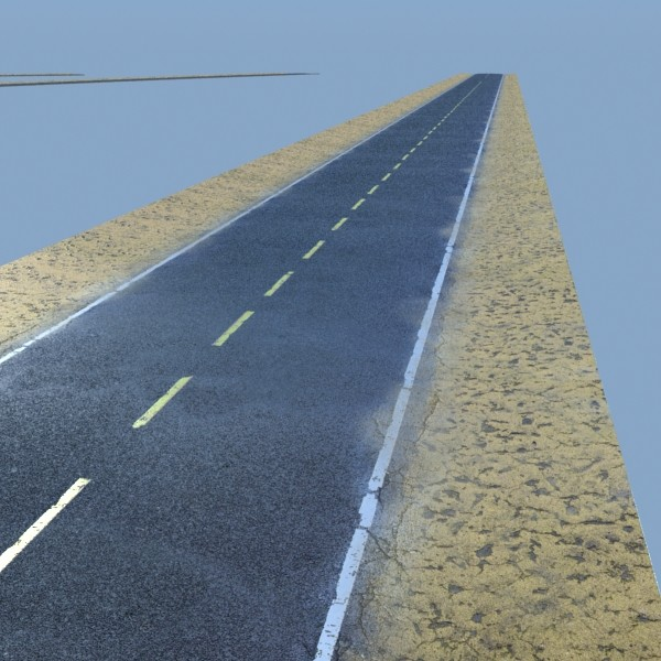 realistic desert road high resolution 3d model 3ds max fbx obj 130080