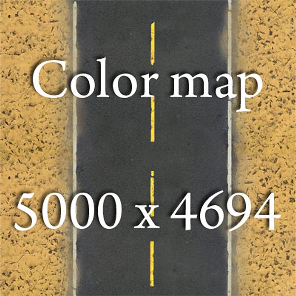 realistic desert road high resolution 3d model 3ds max fbx obj 130082