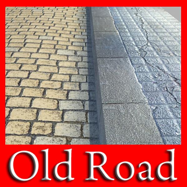 realistic old road high res 5000 x 3000 3d model 3ds max fbx obj 129941