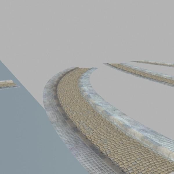 realistic old road high res 5000 x 3000 3d model 3ds max fbx obj 129946