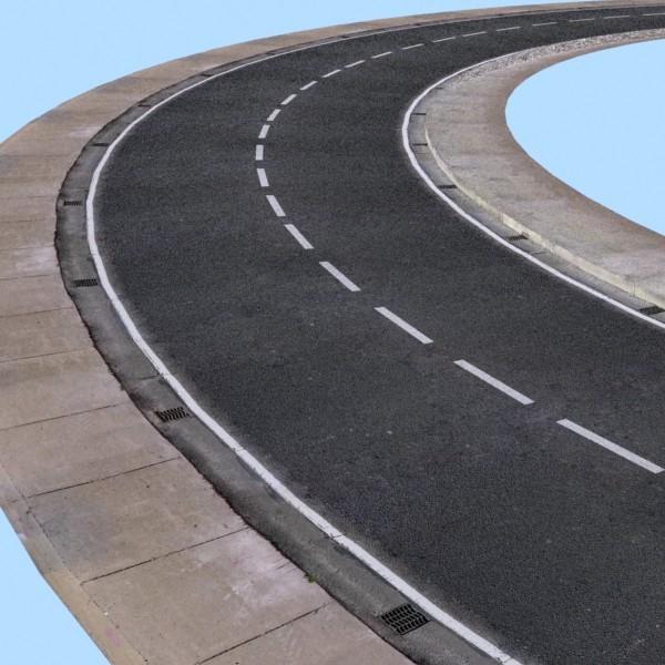 realistic road high res 5980 x 4248 3d model 3ds max fbx obj 129860