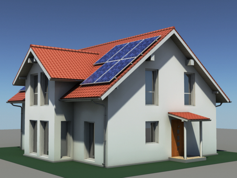 residential solar house 3d model 3ds max lwo obj 127838