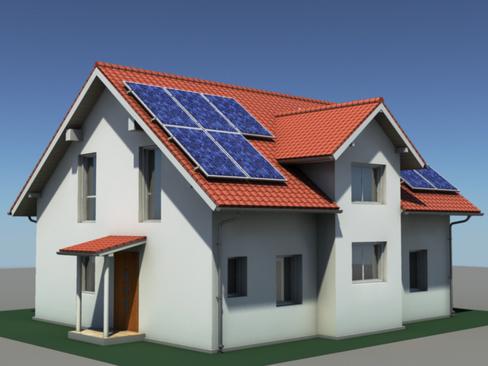 residential solar house 3d model 3ds max lwo obj 127839