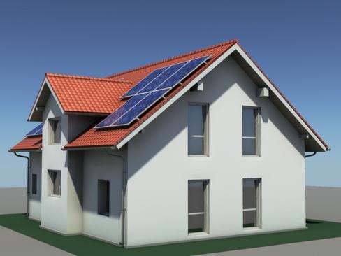 residential solar house 3d model 3ds max lwo obj 127841