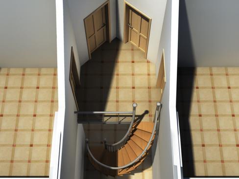 residential solar house 3d model 3ds max lwo obj 127843