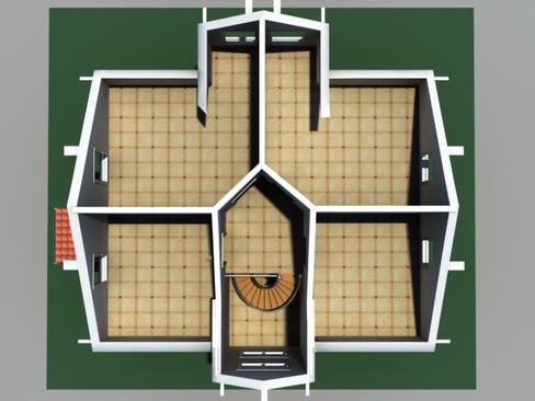 residential solar house 3d model 3ds max lwo obj 127844
