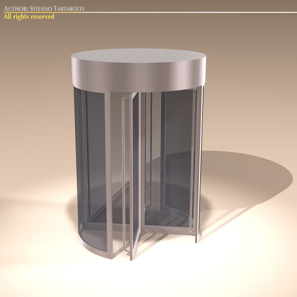 revolving door 3d model 3ds dxf fbx c4d dae obj 131603