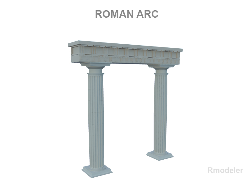 roman arch 3d model 3ds fbx c4d lwo ma mb hrc xsi obj 119682