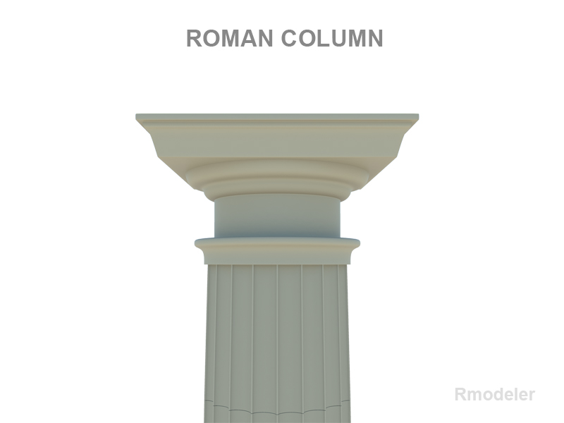 colofn Rhufeinig model 3d 3ds fbx c4d pc hnc xsi obj 119813