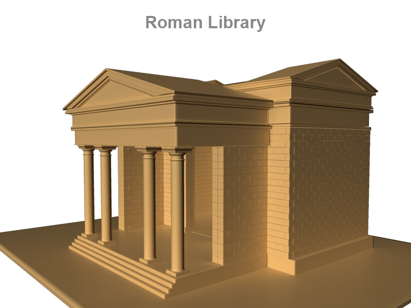roman library 3d model 3ds fbx c4d lwo ma mb obj 124753