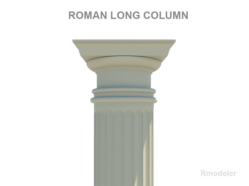 roman long column 3d model 3ds fbx c4d lwo ma mb hrc xsi obj 119817