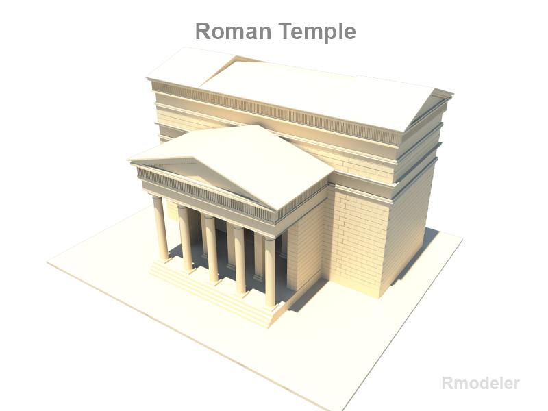 roman temple 3d model 3ds fbx c4d lwo ma mb hrc xsi obj 119711