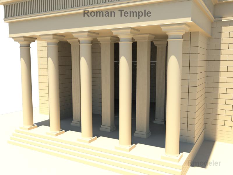 roman temple 3d model 3ds fbx c4d lwo ma mb hrc xsi obj 119712