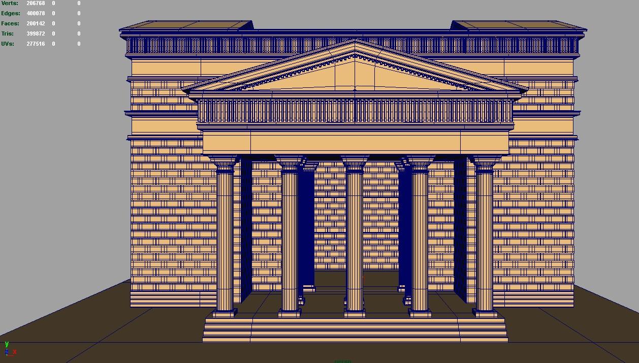 roman temple 3d model 3ds fbx c4d lwo ma mb hrc xsi obj 119713