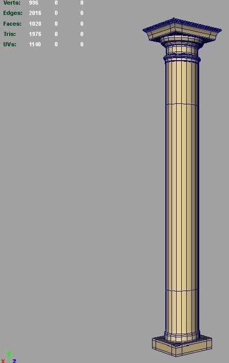 роман ариун сүм багана 3d загвар 3ds fbx c4d lwo ma mb hrc xsi obj 119827