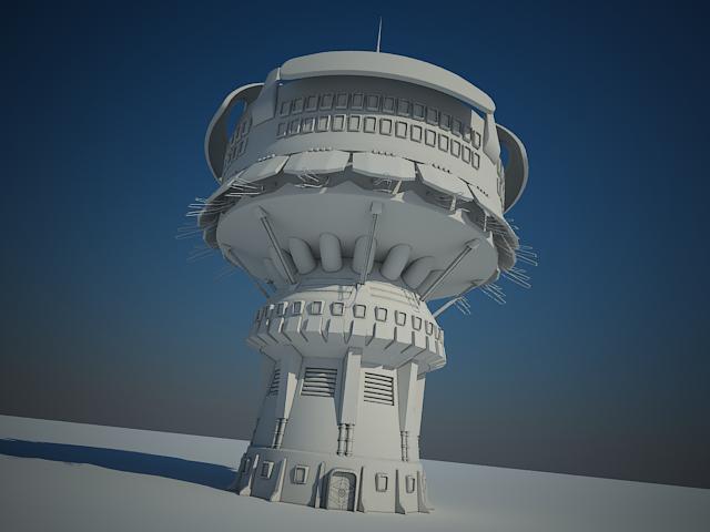 sci fi будівля 14 модель 3d max fbx obj 150854