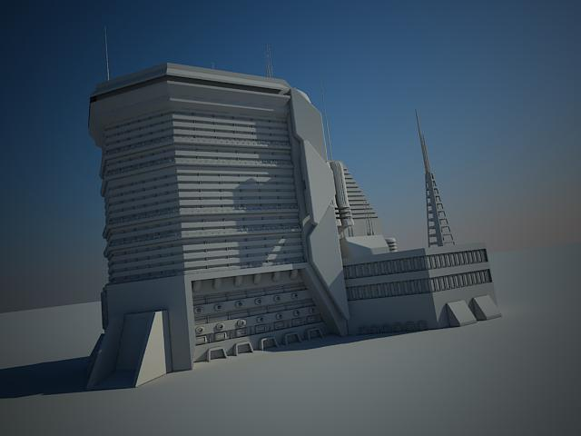 sci fi building 15 3d model 3ds max fbx obj 151137