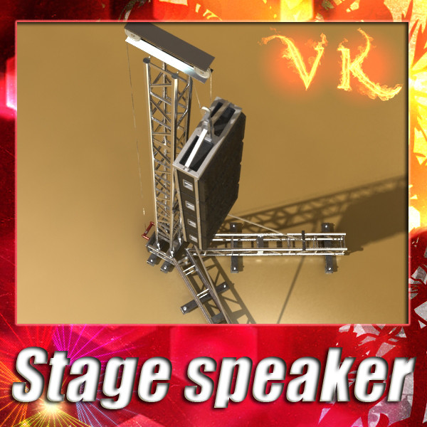 stage speaker truss high detail 3d model 3ds max fbx obj 130913