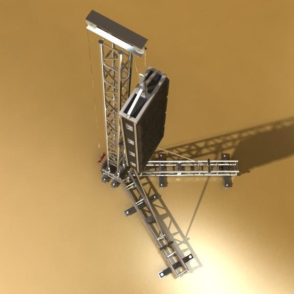 stage speaker truss high detail 3d model 3ds max fbx obj 130915