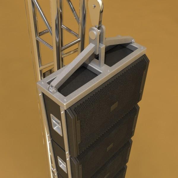 stage speaker truss high detail 3d model 3ds max fbx obj 130916