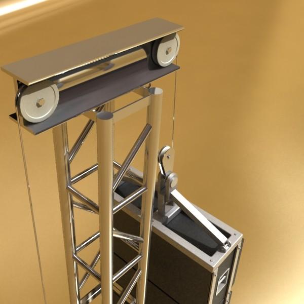 stage speaker truss high detail 3d model 3ds max fbx obj 130917