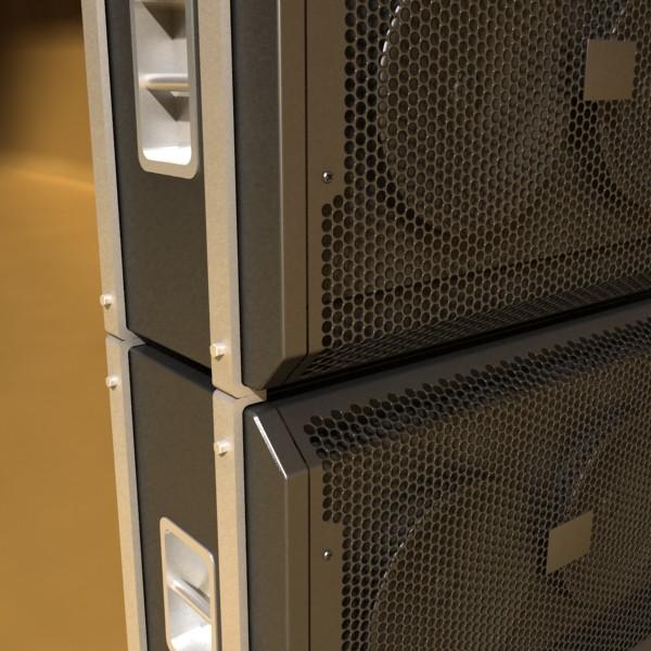 stage speaker truss high detail 3d model 3ds max fbx obj 130919