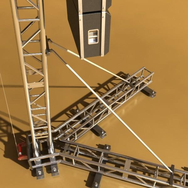 stage speaker truss high detail 3d model 3ds max fbx obj 130920