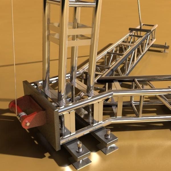stage speaker truss high detail 3d model 3ds max fbx obj 130922