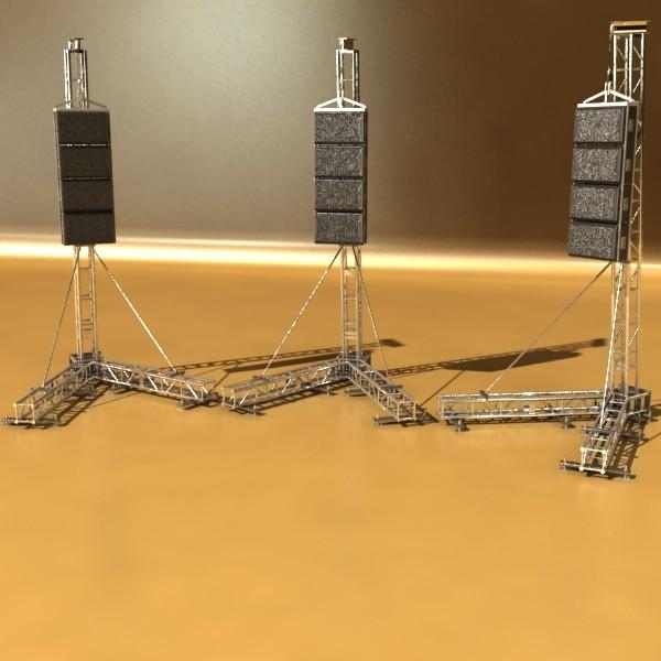 stage speaker truss high detail 3d model 3ds max fbx obj 130923
