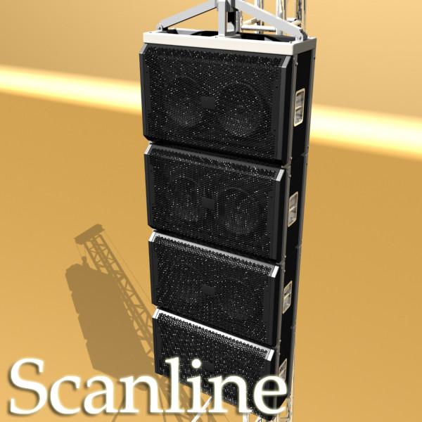 stage speaker truss high detail 3d model 3ds max fbx obj 130925