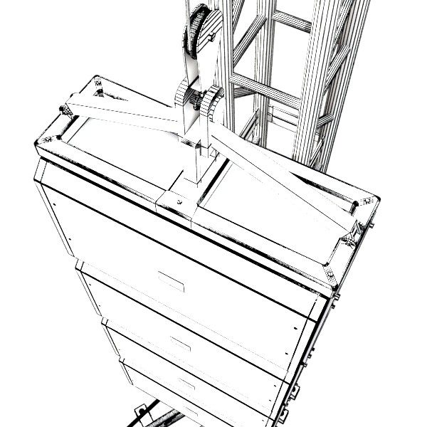 stage speaker truss high detail 3d model 3ds max fbx obj 130926
