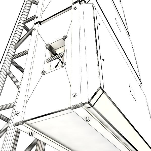 stage speaker truss high detail 3d model 3ds max fbx obj 130927