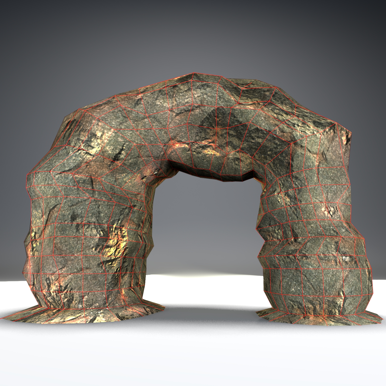 stone arch lowpoly 3d model blend obj 137923