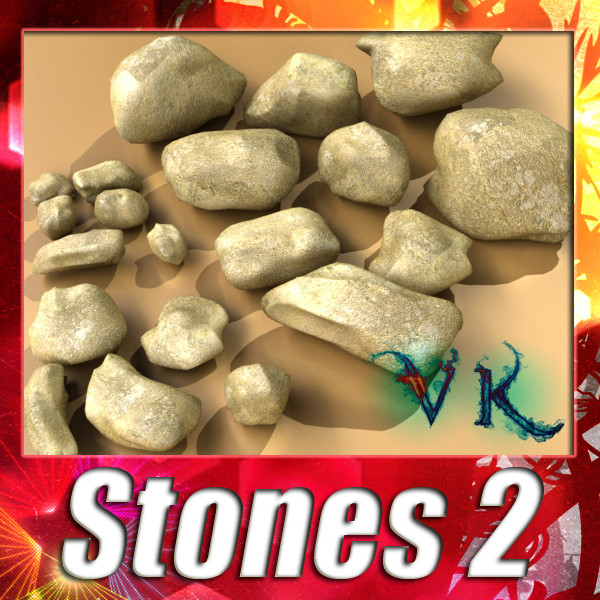 stones 02 high resolution textures 3d model 3ds max fbx obj 131958