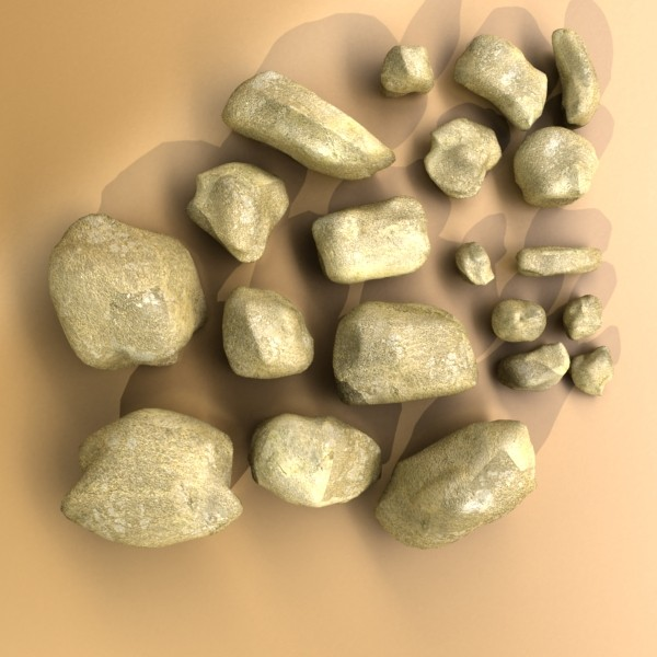 stones 02 high resolution textures 3d model 3ds max fbx obj 131959